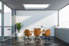 White Manager Office Interior