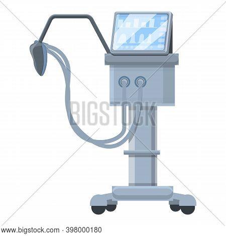 Hospital Ventilator Medical Machine Icon. Cartoon Of Hospital Ventilator Medical Machine Vector Icon
