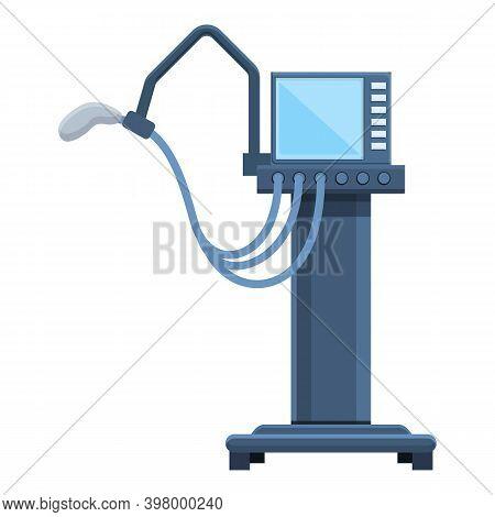 Cardio Ventilator Medical Machine Icon. Cartoon Of Cardio Ventilator Medical Machine Vector Icon For