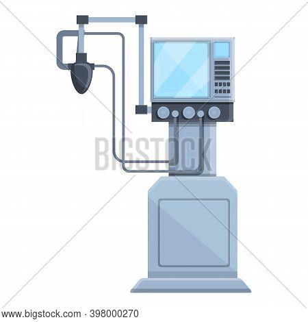 Patient Ventilator Medical Machine Icon. Cartoon Of Patient Ventilator Medical Machine Vector Icon F