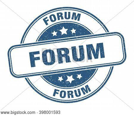 Forum Stamp. Forum Label. Round Grunge Sign