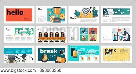 Business Presentation Templates. Technology. Flat Vector Illustration