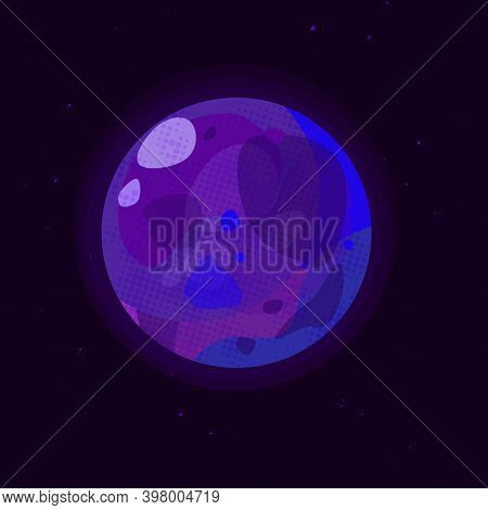Vector Illustration Of A Globe In Purple Tones. Suitable For Games.