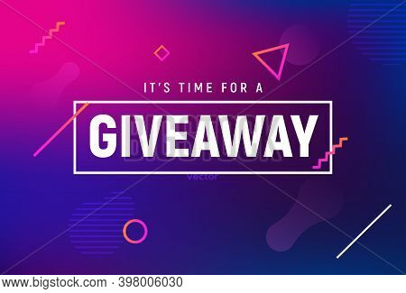 Giveaway Winner Gift Contest. Give Away Post With Present Announcement Background
