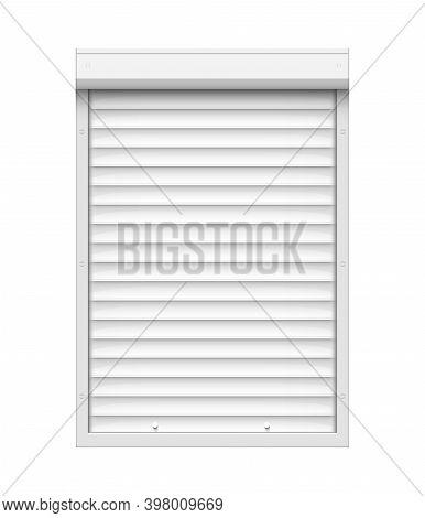 Shutter Roll Door Blind. Warehouse Roller Shop Outlet Door Garage Or Window