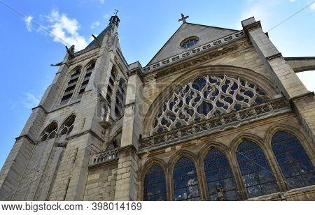 Paris, France. August 14, 2019. Eglise Saint-severin Located At The Latin Quarter, Flamboyant Gothic