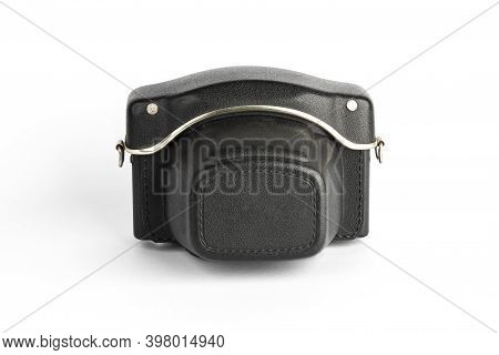 Vintage Leather Camera Case. Black Color Slr Camera Case.