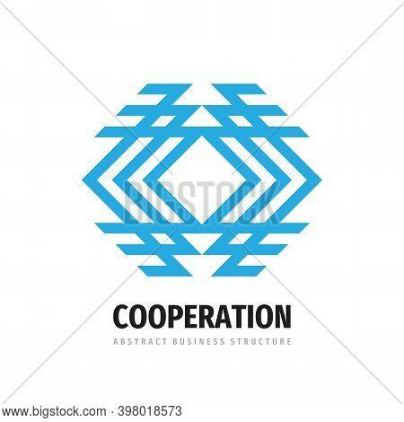 Business Cooperation Logo Design. Network Communication Technology Sign. Strategy Success Alliance U