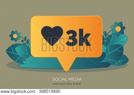 Social Network, Chatting And Communication Online. Flat Vector Illustration