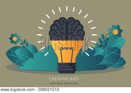 Business Ideas Concept. Brainstorming And Development. Flat Vector Illustration