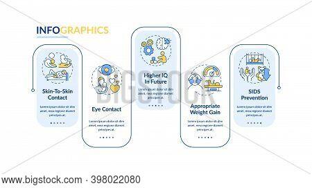 Breastfeeding Pros Vector Infographic Template. Eye Contact Presentation Design Elements. Data Visua