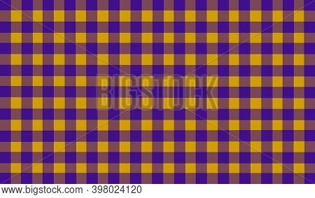 Purple Yellow Mustard Brown Vintage Checkered Background. Space For, Graphic Design. Checkered Textu