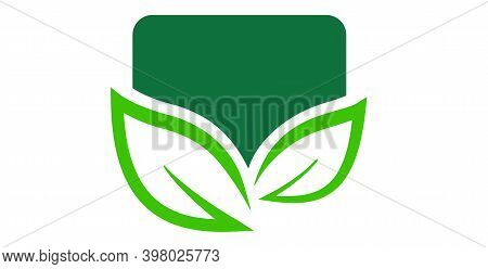 Two Green Leaf Logo Vector. Leaves Logo. Nature Leaf Logo. Eco Leaf Logo. Leaf Sign. Leaf Symbol. Le