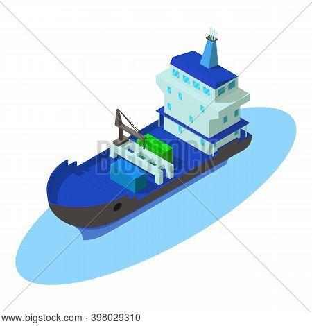 Maritime Shipping Icon. Isometric Illustration Of Maritime Shipping Vector Icon For Web