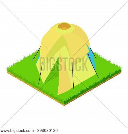 Dome Tent Icon. Isometric Illustration Of Dome Tent Vector Icon For Web