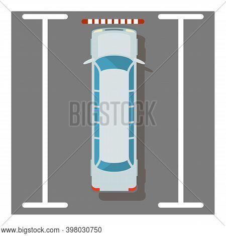 White Limousine Icon. Isometric Illustration Of White Limousine Vector Icon For Web
