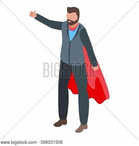 Super Successful Businessman Icon. Isometric Of Super Successful Businessman Vector Icon For Web Des