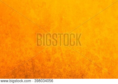 Abstract Orange Background. Orange Vintage Background. Metal Yellow Texture.