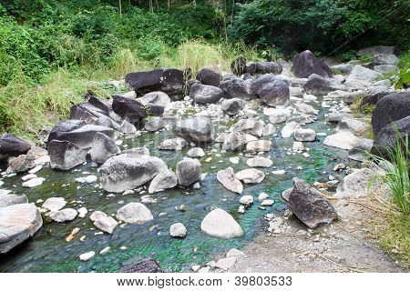 Headwaters Of Natural Hot Spring On The Mountain
