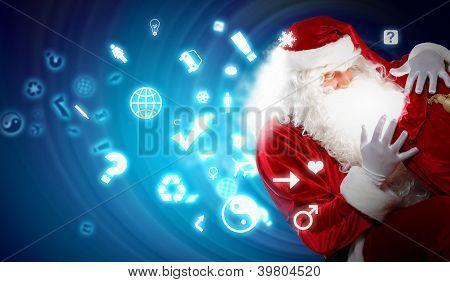 christmas theme with santa