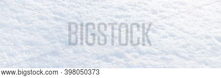 White Snow Winter Texture. Christmas Holiday Background. Seasonal Fresh White Color Snow Nature Back