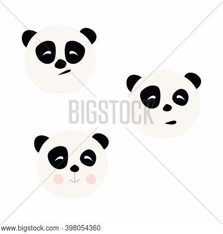 Bear Panda Vector Icon, Vector Illustration, Cute, Fabulous Panda Bear