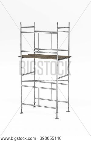 Scaffolding Used In Construction Isolated On White Background - 3d Render