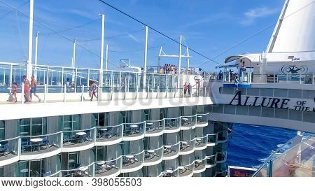 Barselona, Spaine - September 06, 2015: The Cruise Ship Allure Of The Seas, The Royal Caribbean Inte