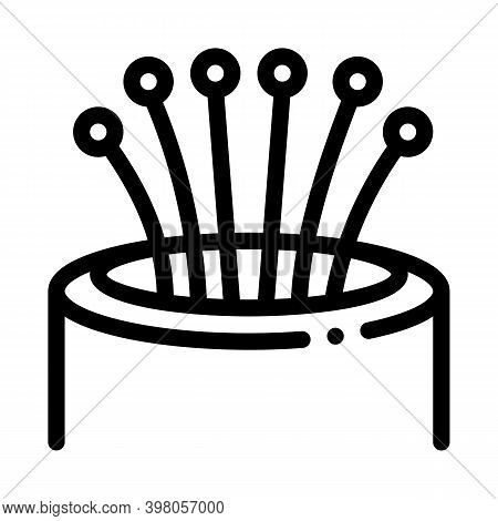 Optical Fiber Cords Black Icon Vector. Optical Fiber Cords Sign. Isolated Symbol Illustration