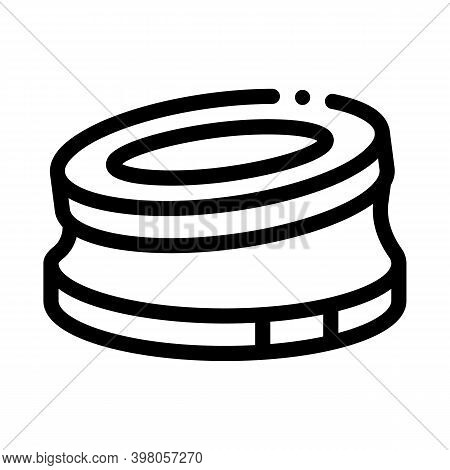 Bump Stop Karting Track Black Icon Vector. Bump Stop Karting Track Sign. Isolated Symbol Illustratio