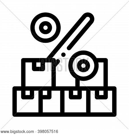 Wholesale Purchase Discount Black Icon Vector. Wholesale Purchase Discount Sign. Isolated Symbol Ill