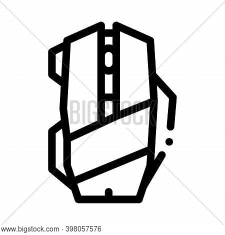 Mouse Computer Device Black Icon Vector. Mouse Computer Device Sign. Isolated Symbol Illustration