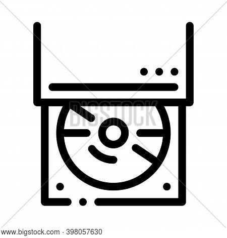 Optical Disc Drive Black Icon Vector. Optical Disc Drive Sign. Isolated Symbol Illustration