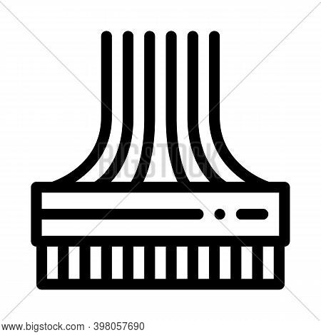 Computer Wires Black Icon Vector. Computer Wires Sign. Isolated Symbol Illustration