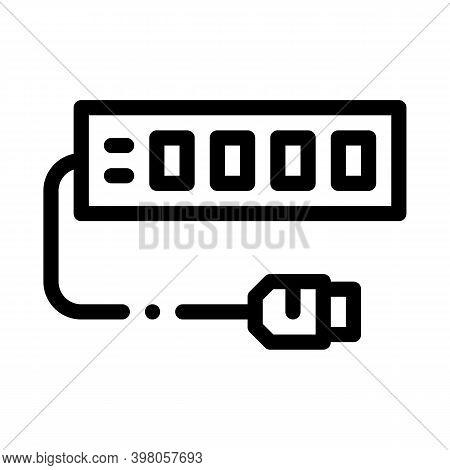 Modem Internet Device Black Icon Vector. Modem Internet Device Sign. Isolated Symbol Illustration
