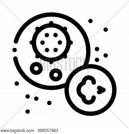 Virus Disease Asthma Black Icon Vector. Virus Disease Asthma Sign. Isolated Symbol Illustration