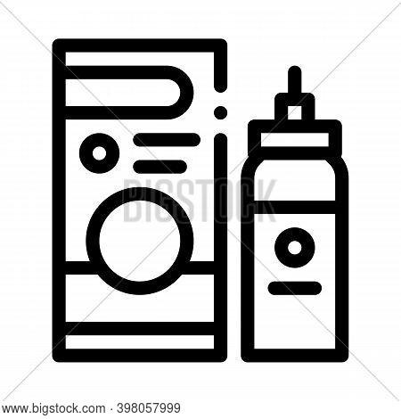 Medicaments Asthma Treatment Black Icon Vector. Medicaments Asthma Treatment Sign. Isolated Symbol I