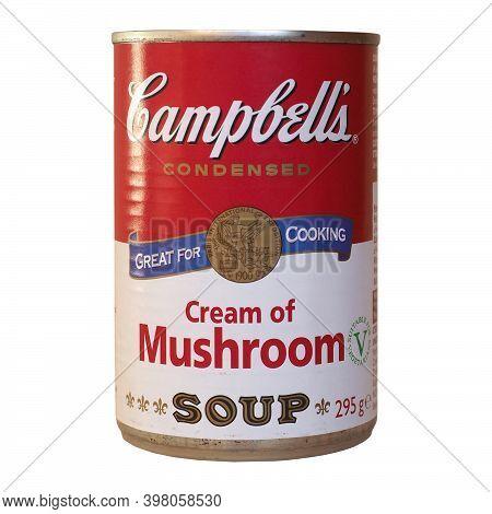 Camden - Dec 2020: Campbell's Can Of Mushroom Soup