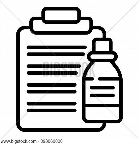 Receipt Drugs Icon. Outline Receipt Drugs Vector Icon For Web Design Isolated On White Background