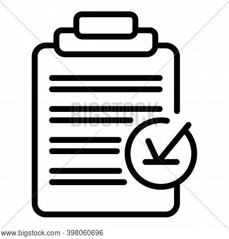 Medical Receipt Icon. Outline Medical Receipt Vector Icon For Web Design Isolated On White Backgroun