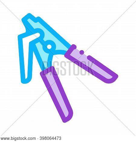 Repair Tool Optical Fiber Color Icon Vector. Repair Tool Optical Fiber Sign. Isolated Symbol Illustr