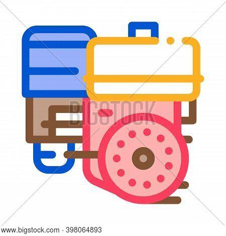Engine Motor Kart Color Icon Vector. Engine Motor Kart Sign. Isolated Symbol Illustration