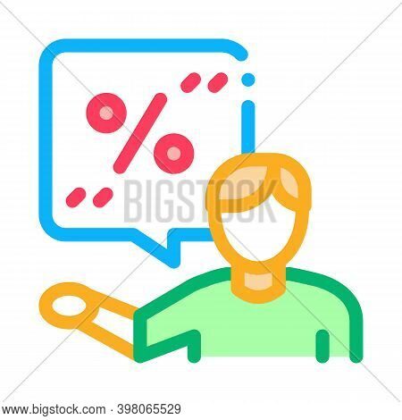 Client Bargaining Color Icon Vector. Client Bargaining Sign. Isolated Symbol Illustration