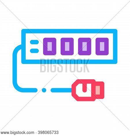 Modem Internet Device Color Icon Vector. Modem Internet Device Sign. Isolated Symbol Illustration