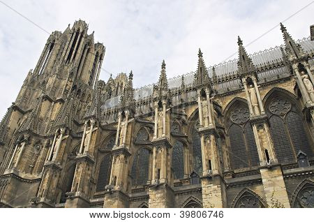 Gothic Cathedral Rheims In France