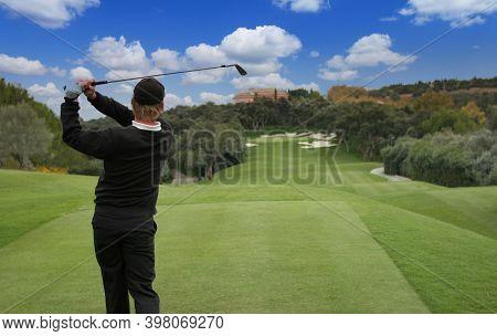 Man Golf Swing