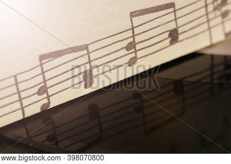 Vintage Music Sheet So Close
