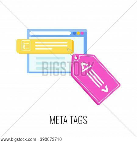 Meta Tags Icon. Seo, Increase The Quantity And Quality Of Traffic