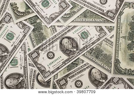 One hundred dollars federal reserve notes.