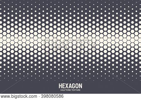 Hexagonal Shapes Vector Geometric Technology Extreme Sports Abstract Background. Halftone Hex Retro
